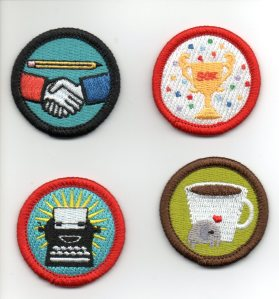 Nanowrimo Merit Badges, the best donor gift ever!