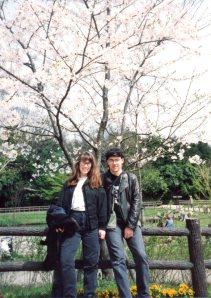 Loren & Mason in Japan in the spring.